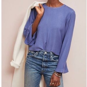 Anthropology Cloth & Stone Bell Sleeve Blouse